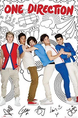set one direction 1d take me home cartoon poster 36x24 inches