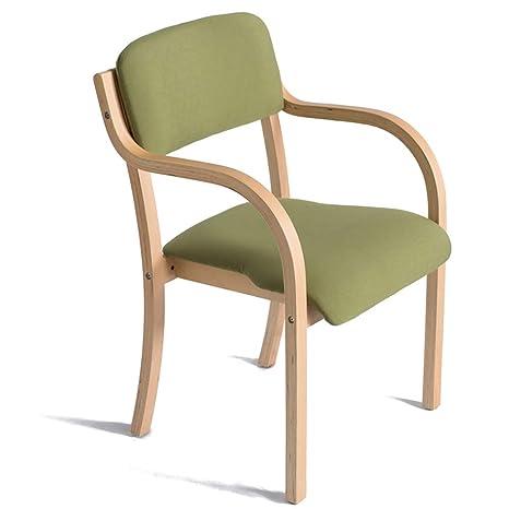 Silla de comedor de madera, sillón ergonómico abierto con ...