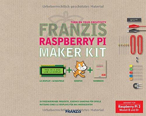 für Raspberry Pi 3 und 3 B+ Franzis Raspberry Pi Maker Kit 20 Projekte DE