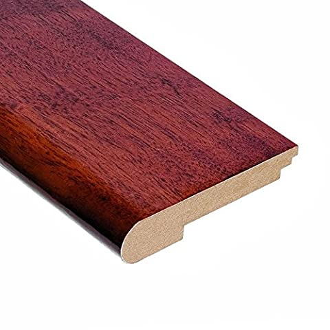 High Gloss Santos Mahogany 1/2 in. Thick x 3-1/2 in. Width x 78 in. Length Hardwood Stair Nose - Santos Mahogany Hardwood Flooring