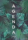 Agenda 2020: 12 mois Semainier 2020 - De Janvier a Décembre 2020 - Taille A5 - design palmiers