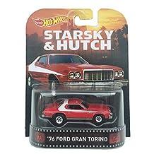 1976 Ford Grand Torino Starsky & Hutch Hot Wheels 2015 Retro Series 1/64 Die Cast Vehicle by Hot Wheels