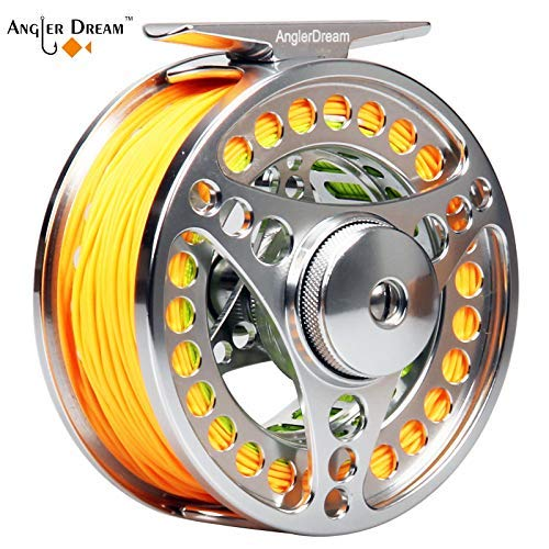AnglerDream EX-ALC 9/10WT CNC Machined Large Arbor Fly Fishing Reel with Line Combo 3 5 8 9WT Fly Line Backing Leader
