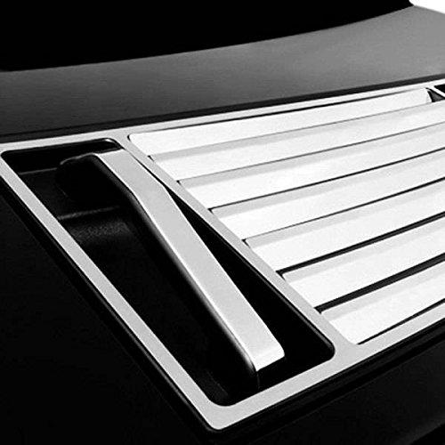 (BLACK HORSE HU-H2-HVD Fits Hummer H2 Hood Deck Vent Panel Handle Covers Trim ABS Chrome 5Pcs ...)
