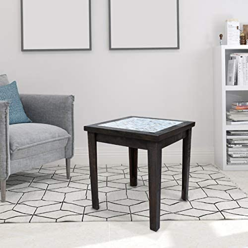 COZAYH Mosaic Pine Inlay End Table