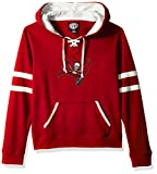 OTS NFL Tampa Bay Buccaneers Women's Grant Lace Up Pullover Hoodie, Logo, Small
