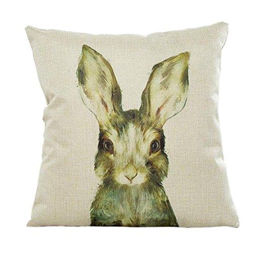 YGbuy Lindo Animal Conejo Abrazo Funda De Almohada Estampado ...
