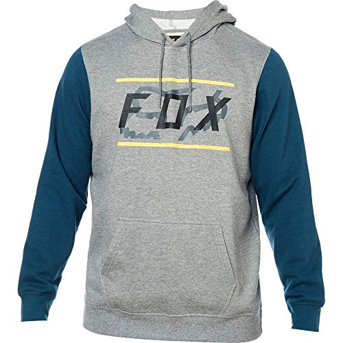 Fox Racing Men's Determined Fleece Hoody,X-Large,Heather - Fox Hat Racing Print