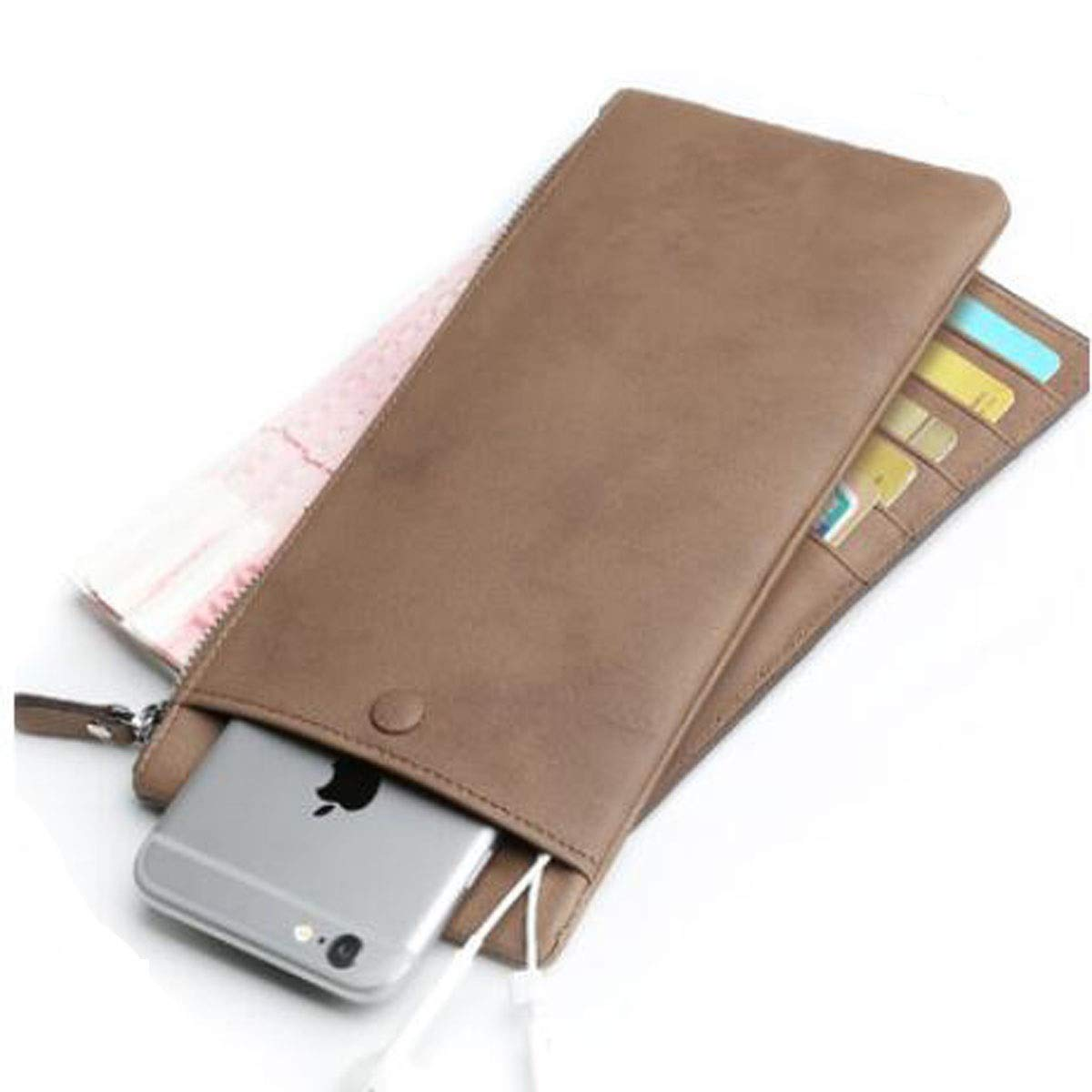 Black Outdoor Business Travel Fashion Student Youth Carrying Leather Wallet cm Stealth Mode Blocking Leather W Suitable for Mens Long Section Size, Color 20 0.5 10 Kalmar RFID Travel Wallet