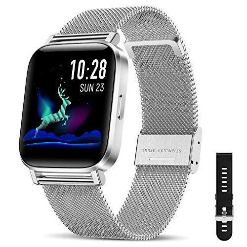 CanMixs Smartwatch, fitnessarmband, horloge, 1,54 inch, volledig touchscreen, fitnesshorloge, IP68 waterdicht…