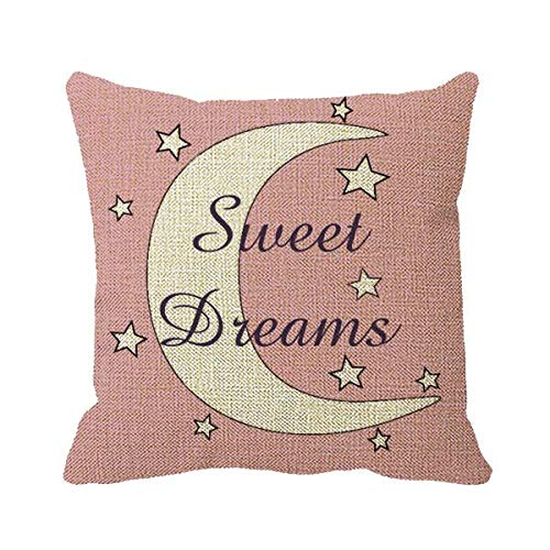 Star Toss Pillow - Goldaisy Cute Moon and Stars Sweet Dreams Throw Pillow Cover 18 x 18in