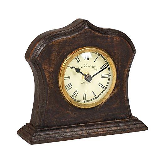 Replica Desk Clock (Bristol Village Clockworks Replica 6 x 6 Wooden Table Top Analog Clock)