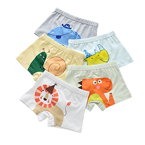 Kimjun Toddler Baby Boxer Briefs Boy Kid Underwear Boys Cotton Soft Boxer Shorts Set of 5 Pack 12-18 Months