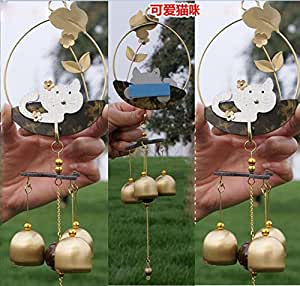 Amazing Antique Bronze Kitten Feng Shui Wind Chime Outdoor Wind Chimes Gift