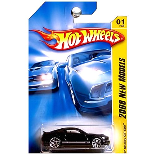 Shelby 2007 Gt500 Ford (Hot Wheels 2008 001 New Models 2007 '07 Shelby GT-500 Black GT 500 2008 1 1:64 Scale)