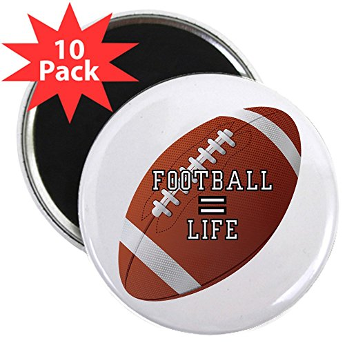 2.25 Inch Magnet (10 Pack) Football Equals Life