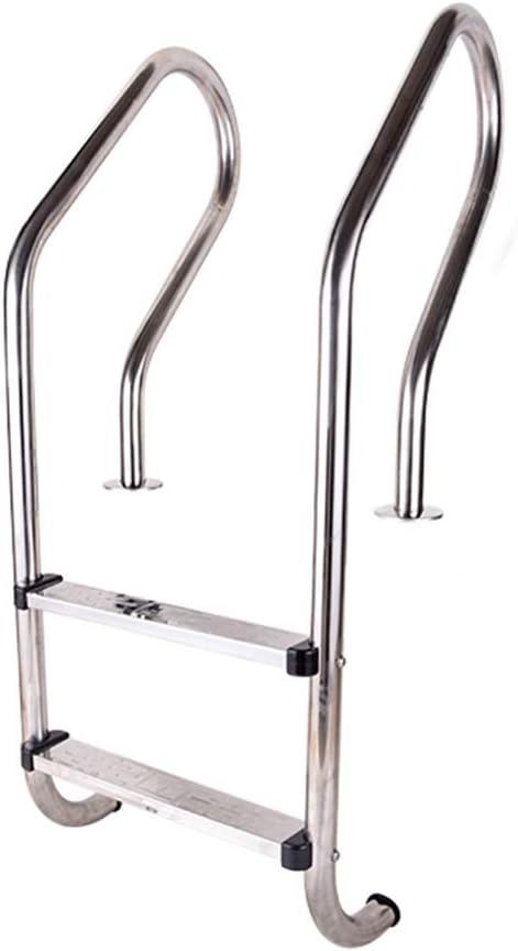 Escalera de Piscina de Acero Inoxidable de 2 Peldaños, Pasamanos de Piscina con Pedal de Seguridad, Riel de Agarre Manual de Fácil Montaje (Size : 1.2mm Thick): Amazon.es: Hogar