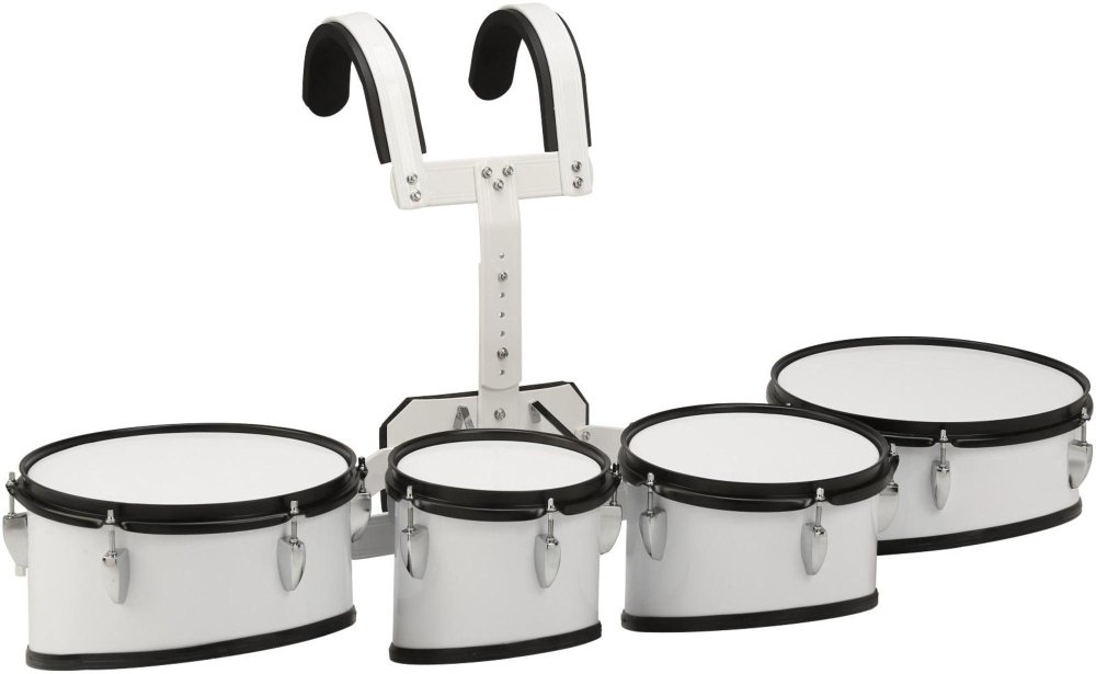 Sound Percussion Labs Marching Tenor Drum with Carrier 8 in.,10 in.,12 in.,13 in. White MTD8023WH