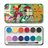 eeBoo Watercolor Paint Set for Kids, Woodland