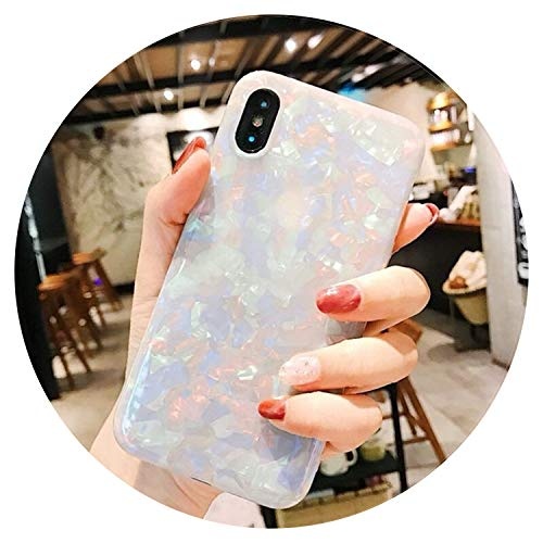 Phone Case for iPhone X XR XS Max 8 7 6 6s Plus Retro Colorful Gradient Conch Shell Soft IMD Back Cover Cases Coque Capa,Taq,for iPhone Xs Max
