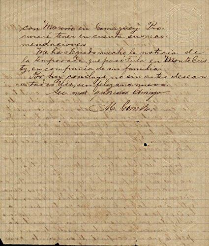 General Maximo Gomez Y Baez Autograph Letter Signed 01/17/1898