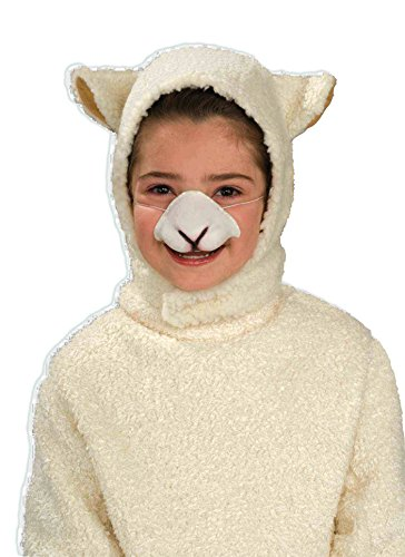 Forum Sheep Hood and Nose Child Set Costume