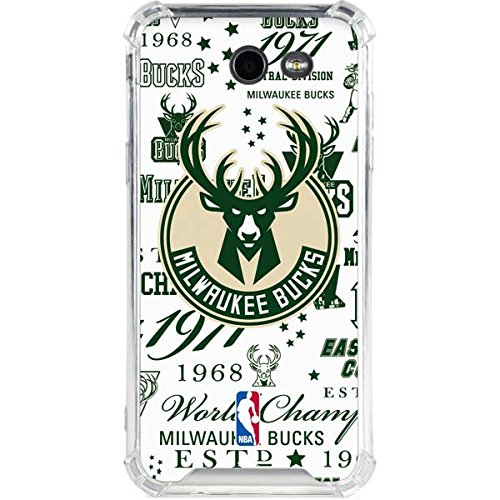 Skinit Milwaukee Bucks Galaxy J3 (2017) Clear Case - Officially Licensed NBA Phone Case - Transparent Galaxy J3 (2017) Cover