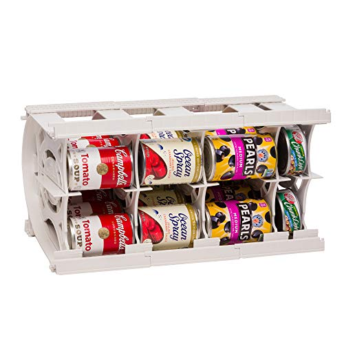 Shelf Reliance Pantry Can Organizers - Customizable Can Lengths - First In First Out Rotation - Designed for Canned Goods for Cupboard, Pantry and Cabinet - Food Storage - Made in USA - Up to 20 Cans (Pantry Storage Can)