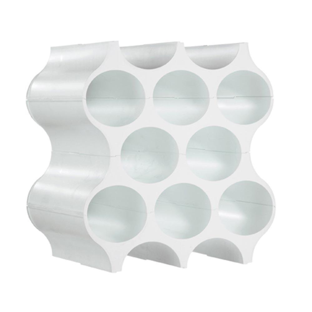 koziol Set-up portabottiglie (Floor rastrelliera per Vino, plastica, Bianco, Moderno)