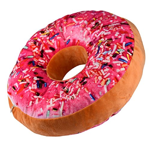 Ikevan Baby Children Cushion Pillow New style Doughnut Shaped Ring Plush Soft Novelty Style Soft Toy (Hot pink) ()