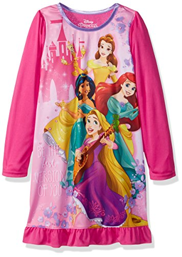 (Disney Girls' Little Multi-Princess Nightgown, Pink,)