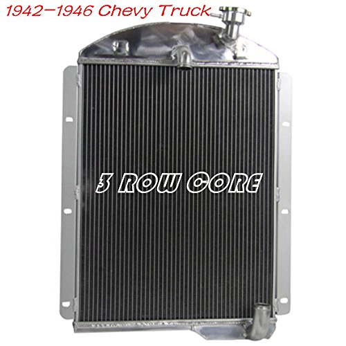 OzCoolingParts Designs Pro 1942-1946 Chevy Radiator - 3 Row Aluminum Radiator for 42-46 Chevy Chevrolet Pickup Truck GMC AK Series V8 Auto Engine - 1946 Chevy Pickup Parts