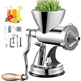 VEVOR Manual Wheatgrass Juicer with Suction Cup Base & Desktop Clamp Wheat Grass Grinder Long Screw Shaft Wheatgrass Juicer S