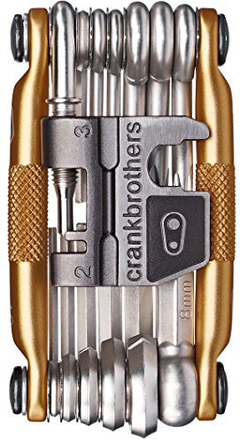 Crankbrothers M19 Bicycle Multi-Tool - Steel Bike Tool, Torx, Hex and Chain Tool, 12 Speed Compatible