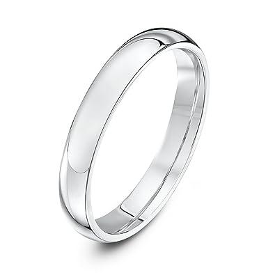 Theia Palladium 950 Super Heavy D Shape Wedding Ring uoTIcB