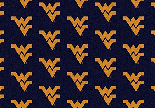 (American Floor Mats West Virginia Mountaineers NCAA College Repeating Team Area Rug 10'9