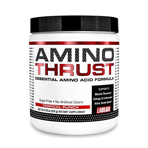 LABRADA Amino Thrust - BCAA Energy Powder with Green Tea Extract for Lean Muscle Growth &