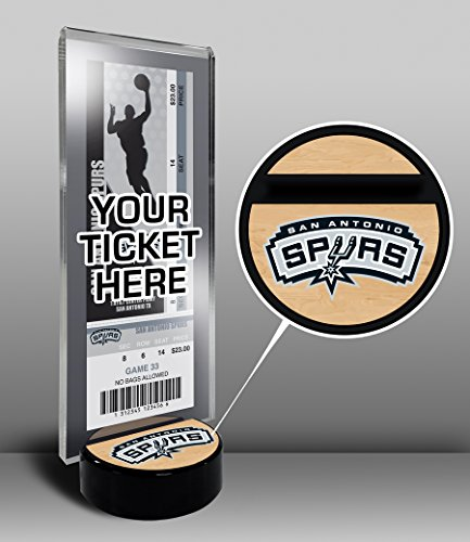 NBA San Antonio Spurs Ticket Display Stand, One Size, Multicolored by That's My Ticket