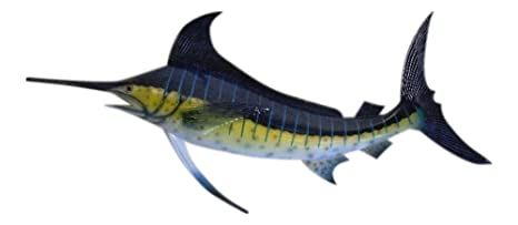 Marlin Replica Nautical Saler Fishing Wall Decor on