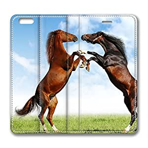 Two Horse Hugging DIY Leather iphone 6 plus Case Perfect By Custom Service