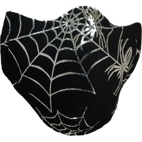 M11 Black Mesh Silver Foil Spiders Cold/Flu Mask - Child