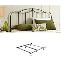 Affinity Metal Headboard Panel with frame, Blackened Taupe Finish, King