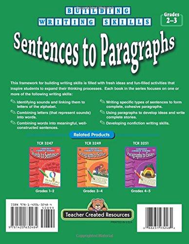Amazon.com: Building Writing Skills: Sentences to Paragraphs ...