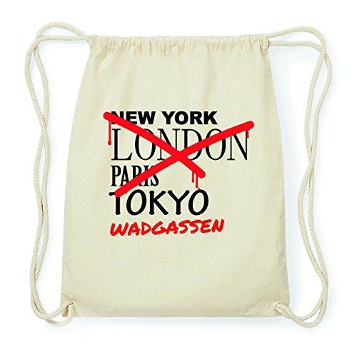 JOllify WADGASSEN Hipster Turnbeutel Tasche Rucksack aus Baumwolle - Farbe: natur Design: Grafitti