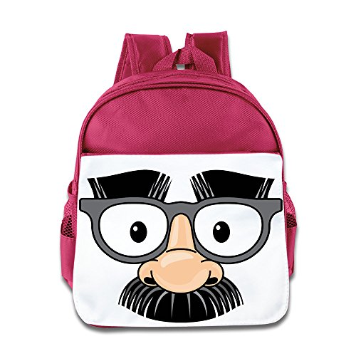 XJBD Custom Superb Eye Glasses Fake Nose Mustache Disguise Kids Children School Bagpack Bag For 1-6 Years Old - Sunglasses Disguise