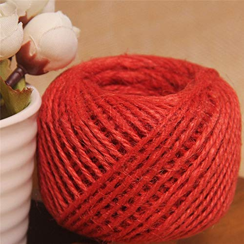 Cord Knit - 50m Roll Colorful Frame Wall Hemp Rope Environmental Dyed Cord Wedding Decoration Diy Hand Knitted - Braid Rope Needles Cord Crochet Machine Wood Knitting Knit Twist Jute Cotton