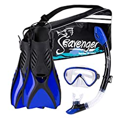 The latest, cutting edge designed snorkeling set by Seavenger. Soft flex Vented open-heel fins are made from lightweight materials, super comfy foot pocket is supple and soft for bare feet. Ergonomically designed snorkel tube is to curve with...