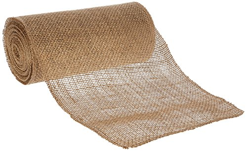 - Kel-Toy Jute Burlap Ribbon, 4-Inch by 10-Yard, Natural