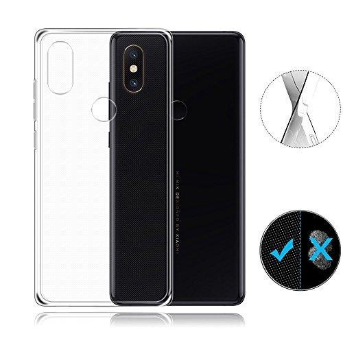 Transparent Mix - Xiaomi Mi Mix 2s Case, AVIDET Shock-Absorption Flexible Soft Gel TPU Silicone Case Cover for Xiaomi Mi Mix 2s (Transparent)