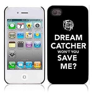 Dream Catcher Hard Plastic and Aluminum Back Case for Apple iphone 4 4S